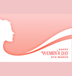 Happy womens day elegant wishes card template vector