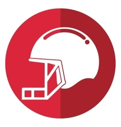 helmet mask american football equipment shadow vector image