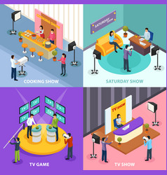 isometric television design concept vector image