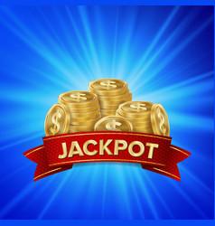 jackpot background golden casino treasure vector image
