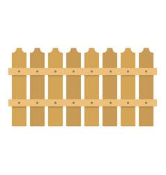 Low fence icon flat style vector