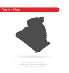 Map algeria isolated black vector