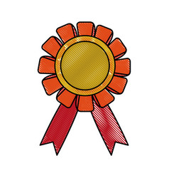 medal prize icon image vector image