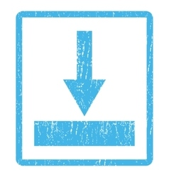 Move Bottom Icon Rubber Stamp vector