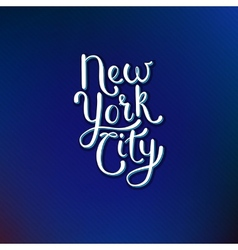 New York City Concept on Blue Violet Background vector image