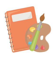 Notebook and school supplies design vector