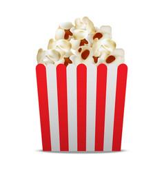 paper popcorn box mockup realistic style vector image