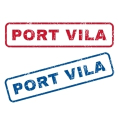 Port Vila Rubber Stamps vector