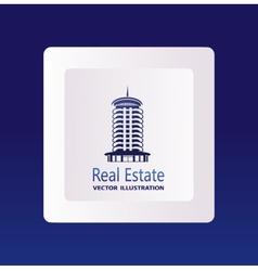 Real estate logo eco home vector