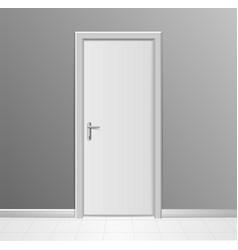 realistic 3d detailed white modern door vector image