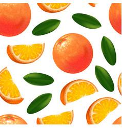 realistic detailed orange citrus fruit background vector image