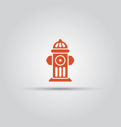 Red fire hydrant isolated colored icon vector