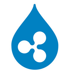 ripple drop flat icon vector image