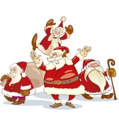 Santa Claus group vector image