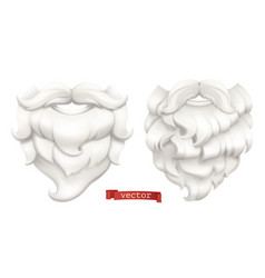 santa claus white beard and mustache 3d icon vector image