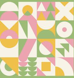 seamless bauhaus pattern abstract geometric vector image