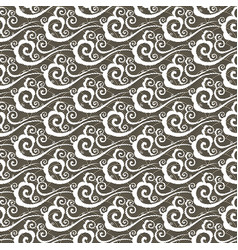 seamless pattern with clouds in chinese style vector image