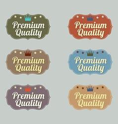Set of Vintage Retro Badge vector image