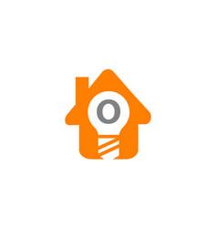 Smart home initial o vector
