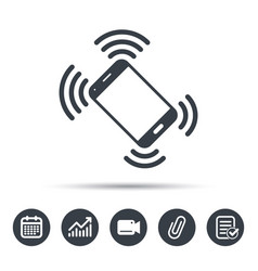 Smartphone call icon mobile phone vector