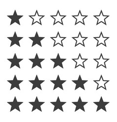 star ratting icons vector image