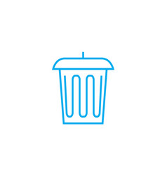trash can linear icon concept trash can line vector image