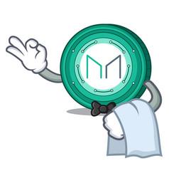 Waiter maker coin mascot cartoon vector