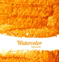 Watercolor texture gold on a white background vector
