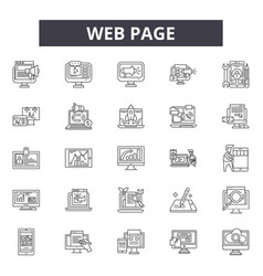 web page line icons for web and mobile design vector image