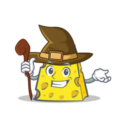 Witch cheese character cartoon style vector