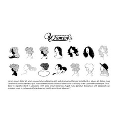 Women silhouette design on white background vector
