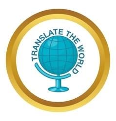 World translation icon vector image