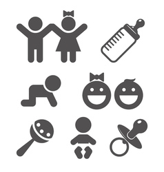 Baby flat icon vector image