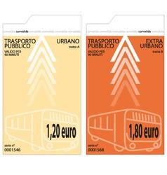 bus tickets vector image vector image