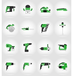 electric repair tools flat icons 17 vector image vector image