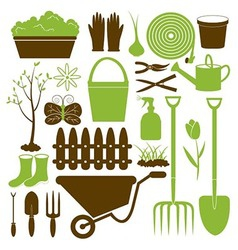 Gardening Icons Collection vector image vector image