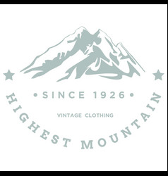 highest mountain vector image