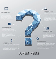 Question Infographic vector image
