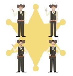 Set of Sheriffs vector image