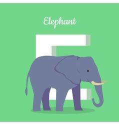 Animals Alphabet Letter - E vector image
