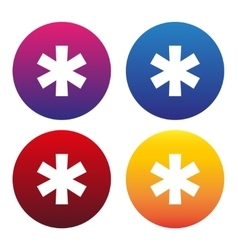 Asterisk sign or asterisk icon vector