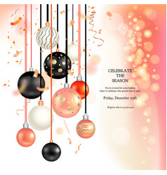 christmas holiday balls vector image vector image