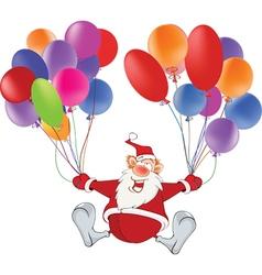 Cute Santa Claus and Toy Balloons vector image vector image