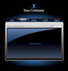 editable website template vector image vector image