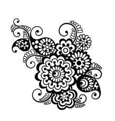 floral pattern element indian ornament vector image