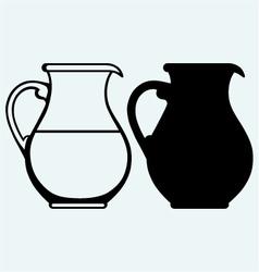 Vintage pitcher vector image vector image