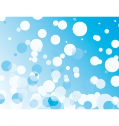 blue background with transparent bubbles vector image