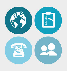 call center service communication vector image