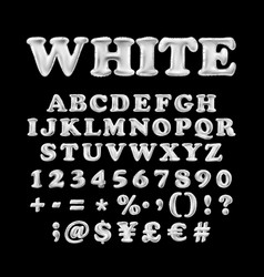 full english alphabet of white inflatable vector image vector image