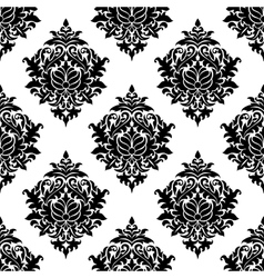 Intricate damask style arabesque pattern vector